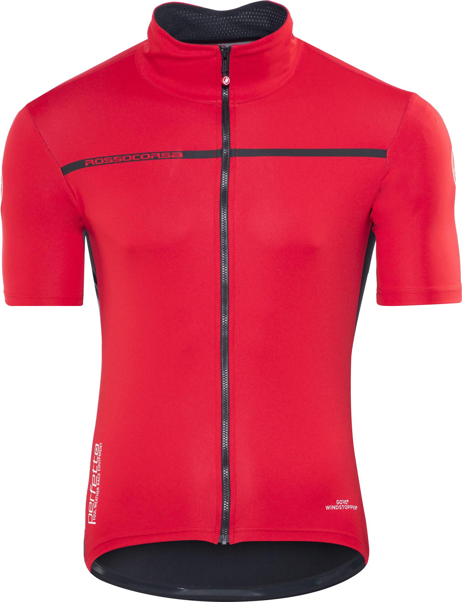 corte maniche rosso a 2 Light Uomo maglietta Perfetto Castelli su XUqOYn